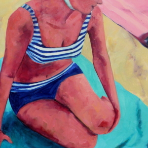 Bright Beach Towels by Tracey Sylvester Harris